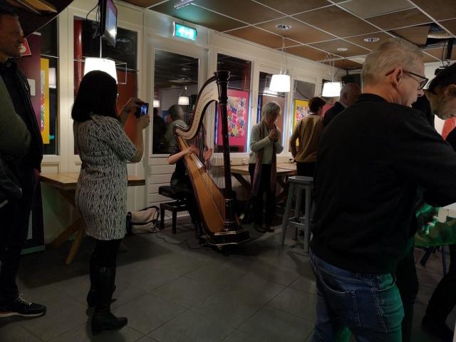 Harpiste Petra Rosa Vlasman